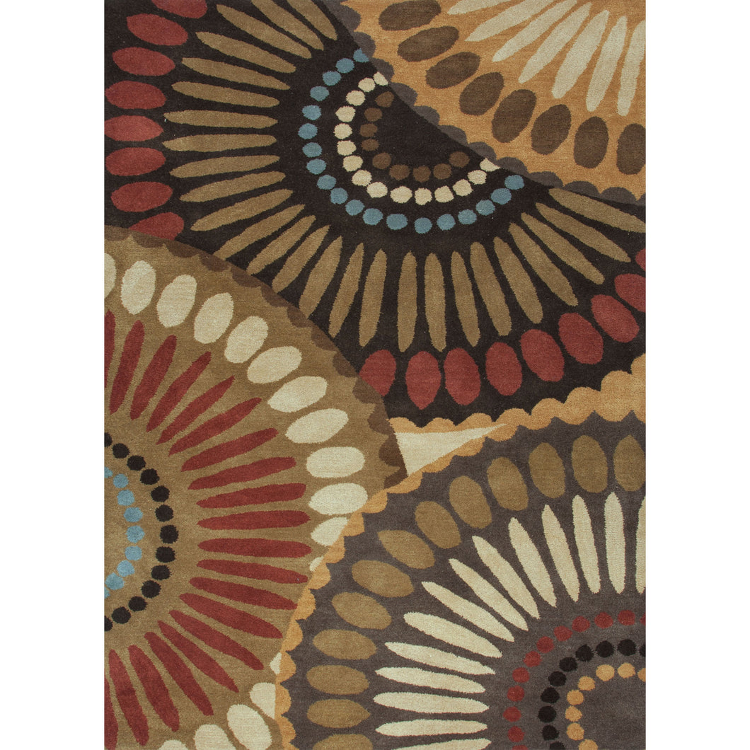 Jaipur Rugs Transitional Geometric Pattern Brown/Red Wool Area Rug