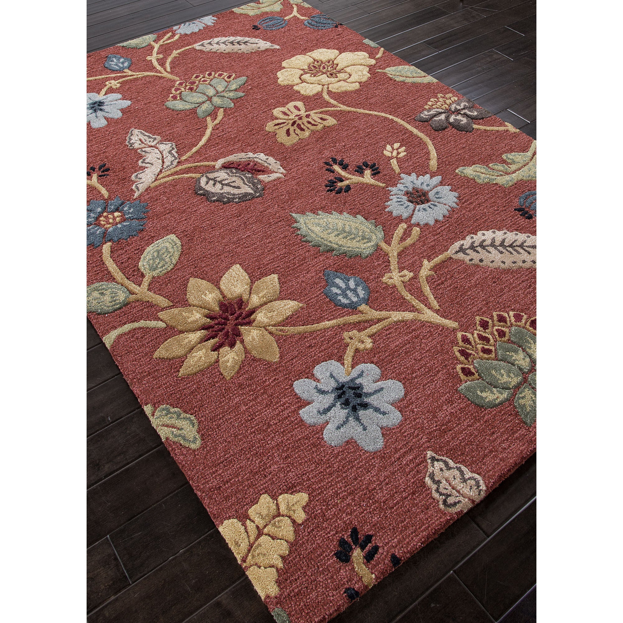 Jaipur Rugs Transitional Floral Pattern Red Multi Wool