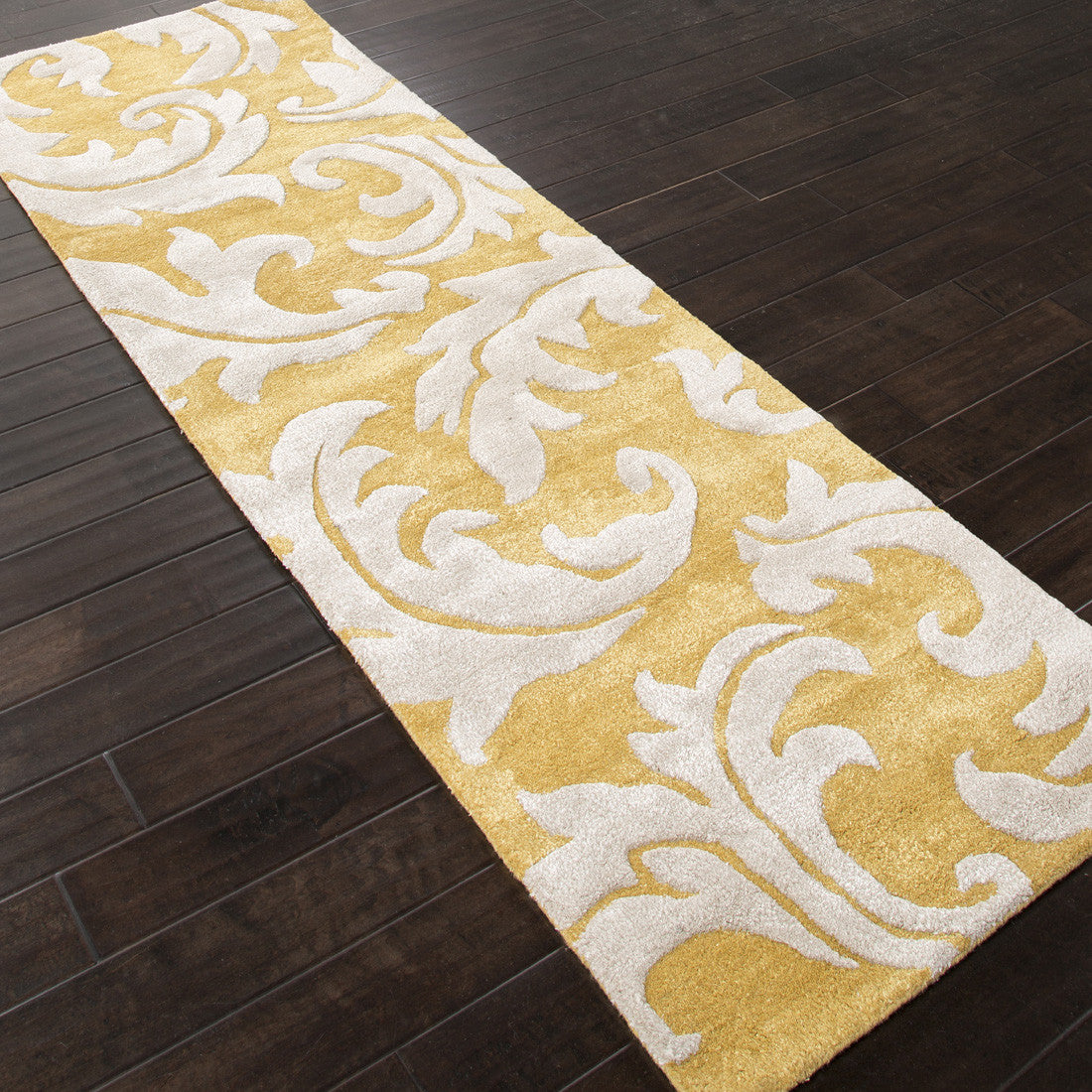 Jaipur Rugs Transitional Floral Pattern Yellow Ivory Wool