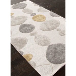 Jaipur Rugs Modern Geometric Pattern Ivory/Gray Wool and Art Silk Area Rug BL102 (Rectangle)