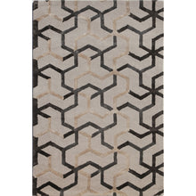 Load image into Gallery viewer, Jaipur Rugs Modern Geometric Pattern Ivory/Gray Wool and Art Silk Area Rug