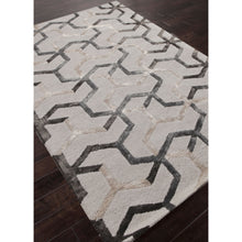 Load image into Gallery viewer, Jaipur Rugs Modern Geometric Pattern Ivory/Gray Wool and Art Silk Area Rug BL125 (Rectangle)