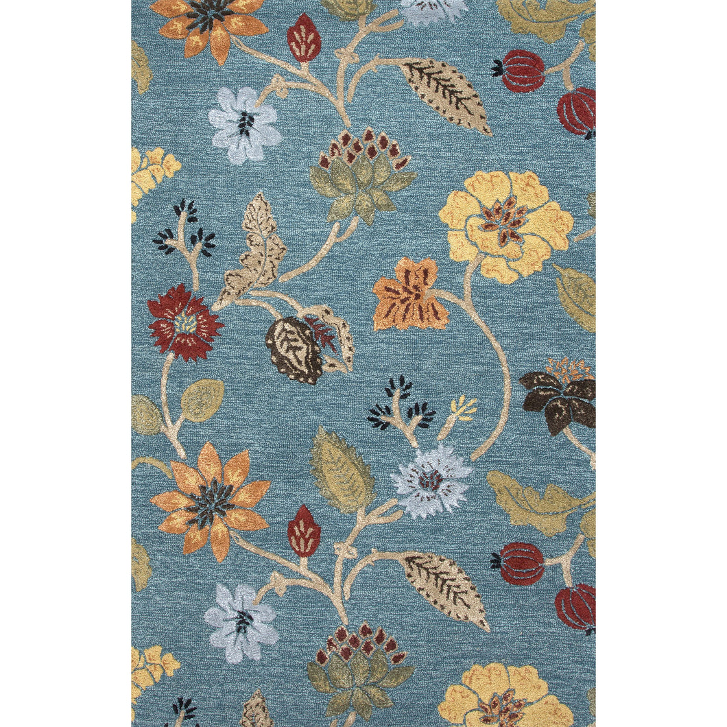 Jaipur Rugs Transitional Floral Pattern Blue Wool And Art