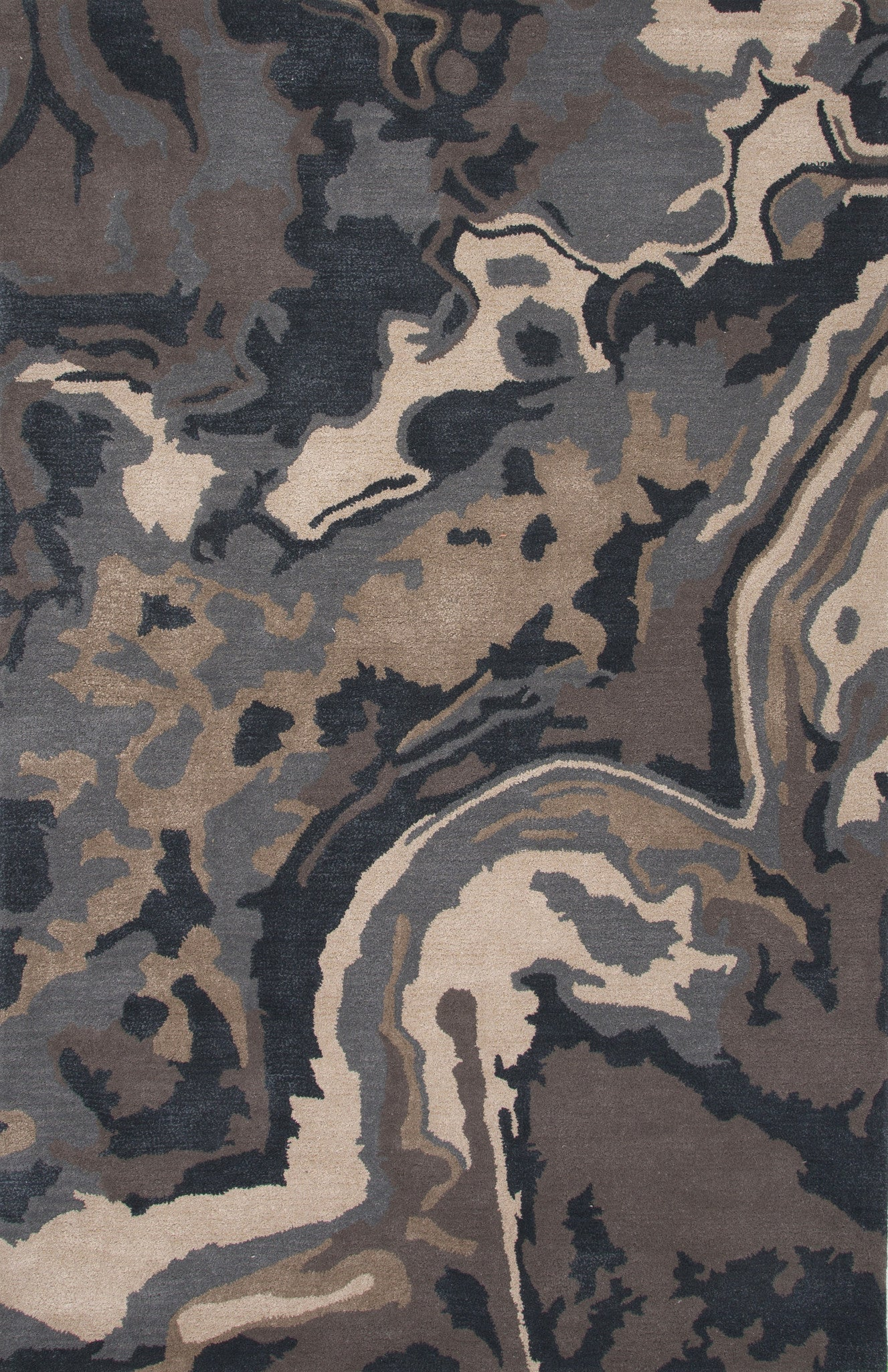 Jaipur Rugs Modern Abstract Pattern Blue Tan Wool And Art