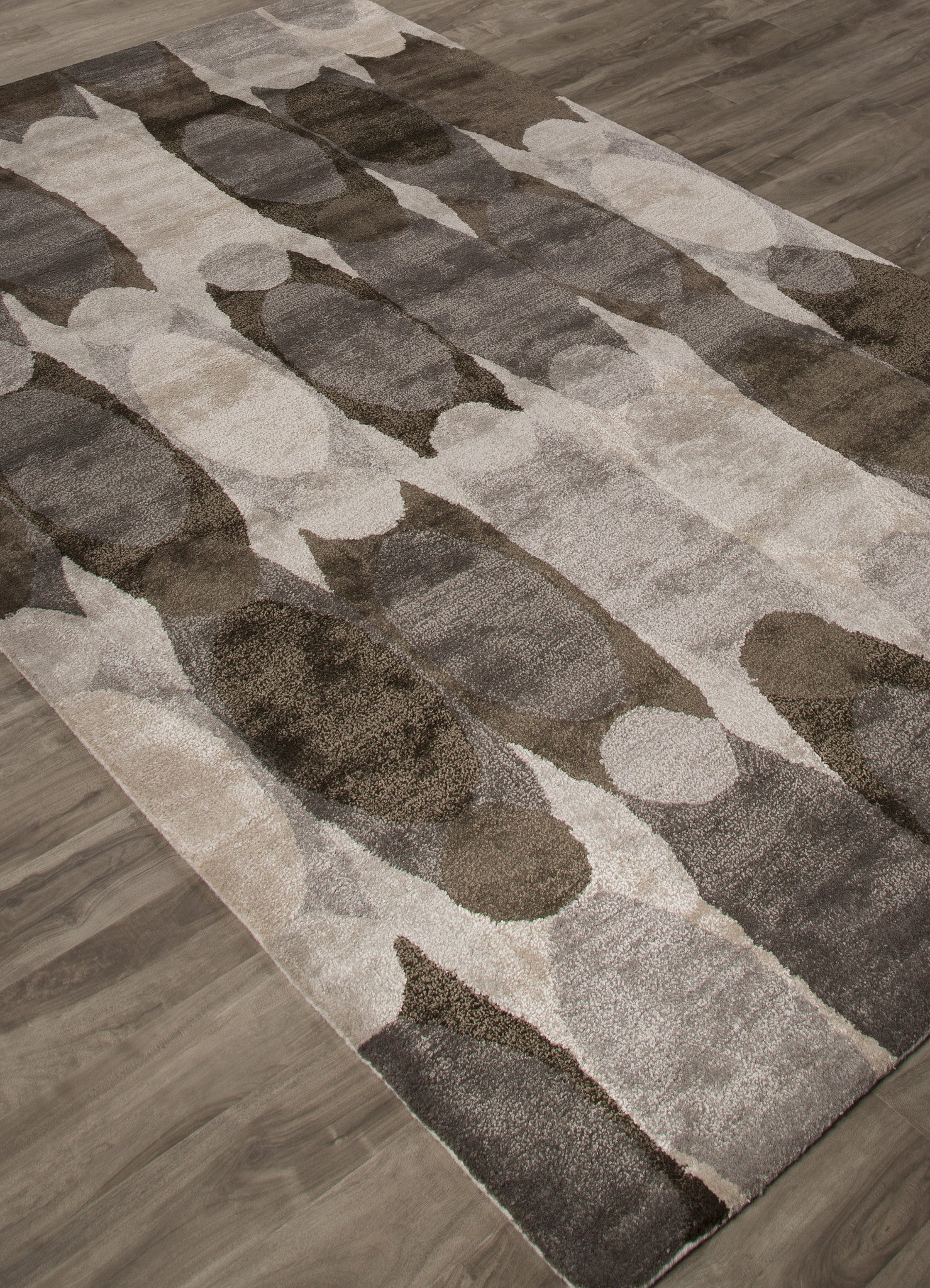 Jaipur Rugs Modern Abstract Pattern Black Ivory Wool And