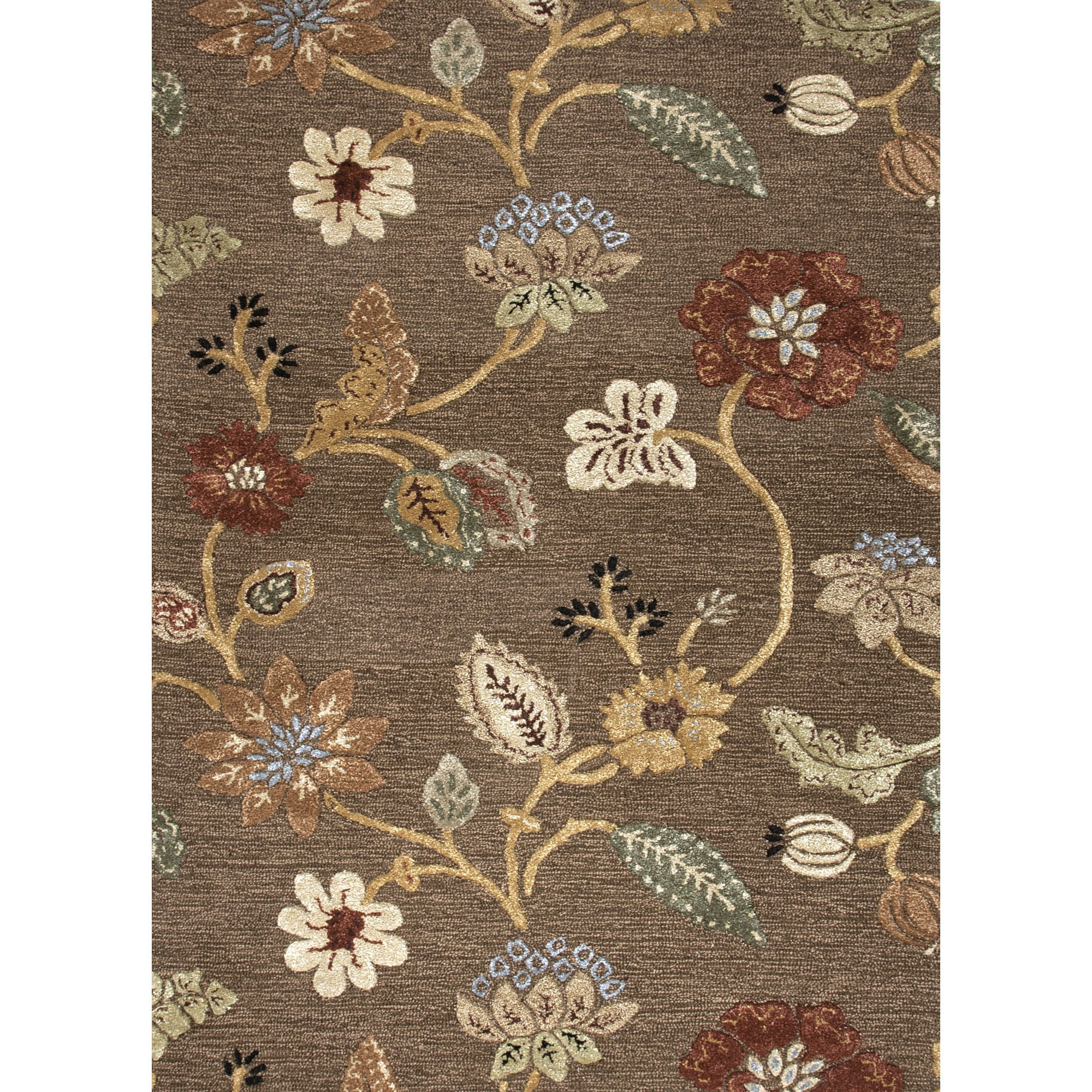 9 X 12 Nourison Nourmak Hand Knotted 100 Wool Persian: Jaipur Rugs Transitional Floral Pattern Brown/Yellow Wool