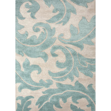 Load image into Gallery viewer, Jaipur Rugs Transitional Floral Pattern Ivory/Blue Wool and Art Silk Area Rug
