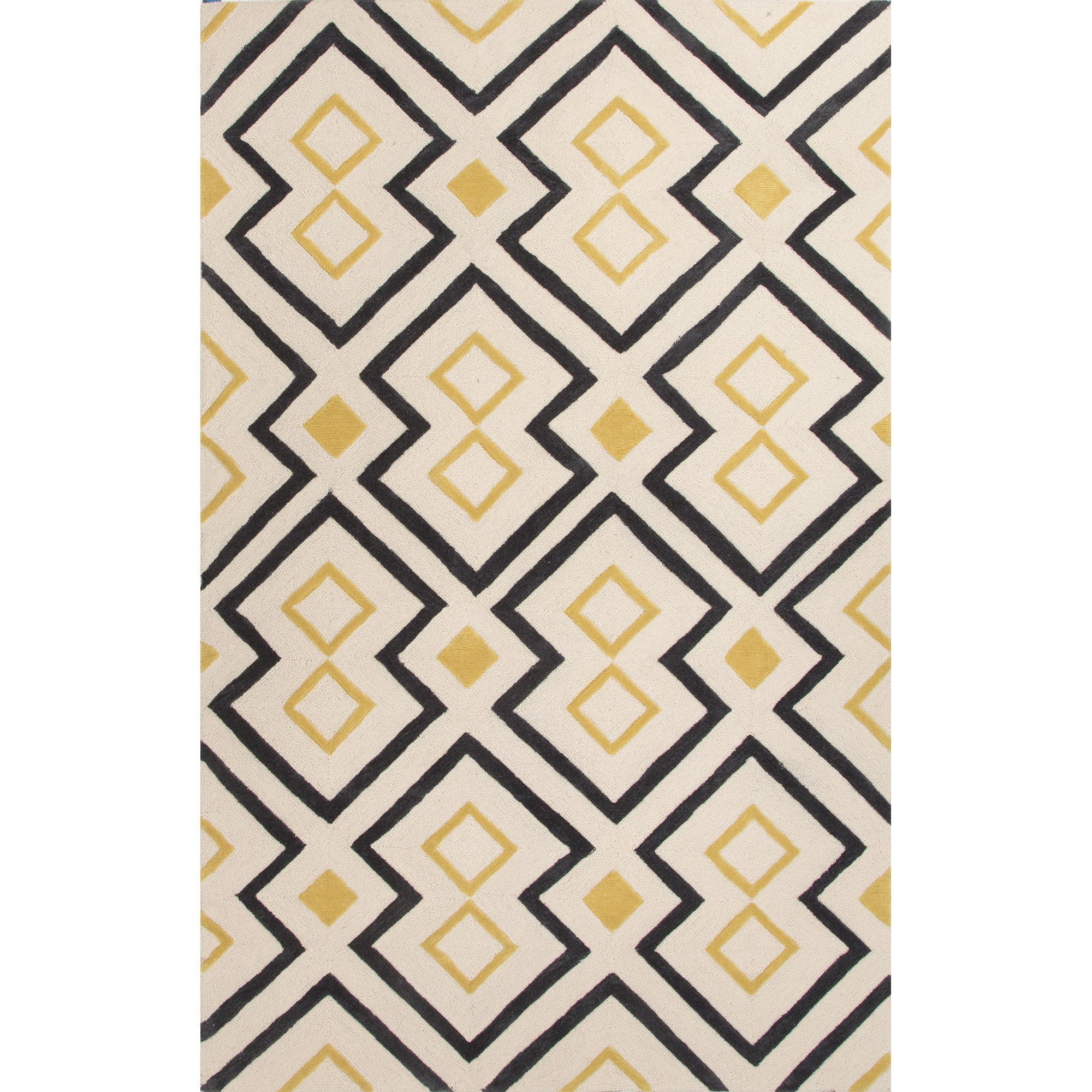 Jaipur Rugs Modern Moroccan Pattern Yellow Ivory Polyester