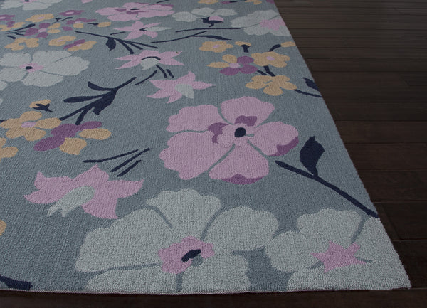 Jaipur Rugs Transitional Floral Pattern Blue Purple