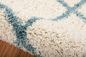 Nourison Brisbane Ivory Aqua Area Rug BRI08 IVAQU (Rectangle)