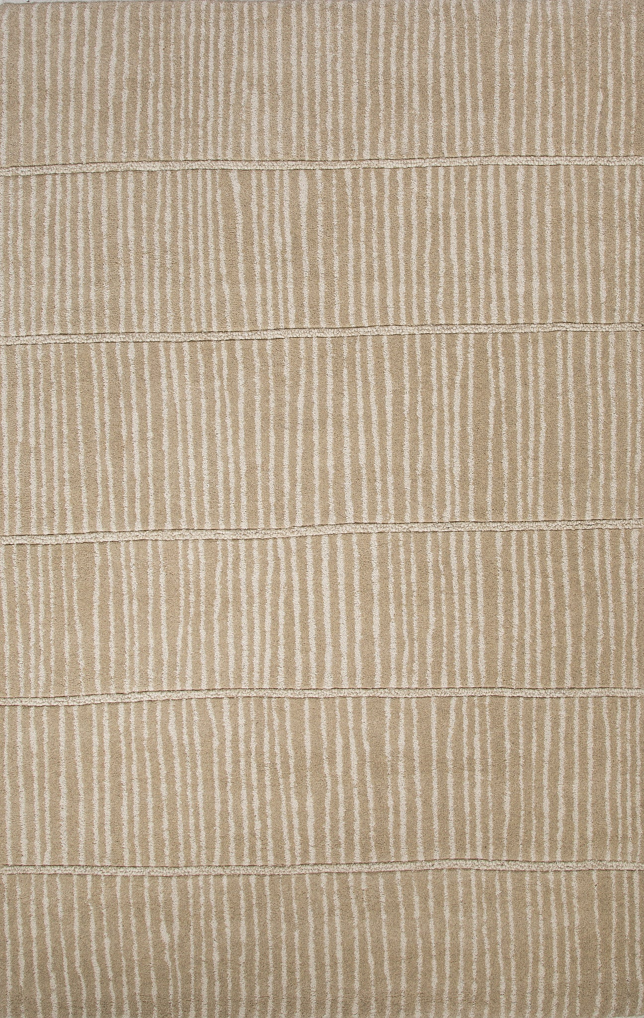 Jaipur Rugs Modern Stripe Pattern Tan Wool Area Rug Bri14