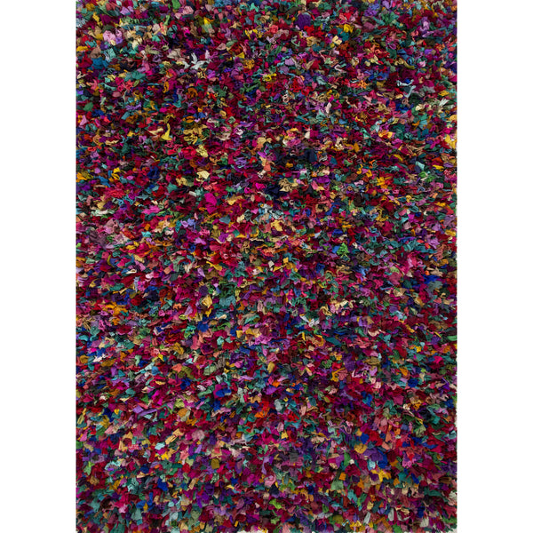 Jaipur Rugs Shag Texture Pattern Multi Recycled Area Rug