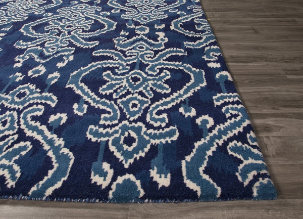 Jaipur Rugs Transitional European Pattern Blue Wool Area