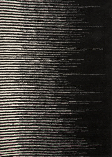 Jaipur Rugs Modern Stripe Pattern Black/Gray Wool Area Rug