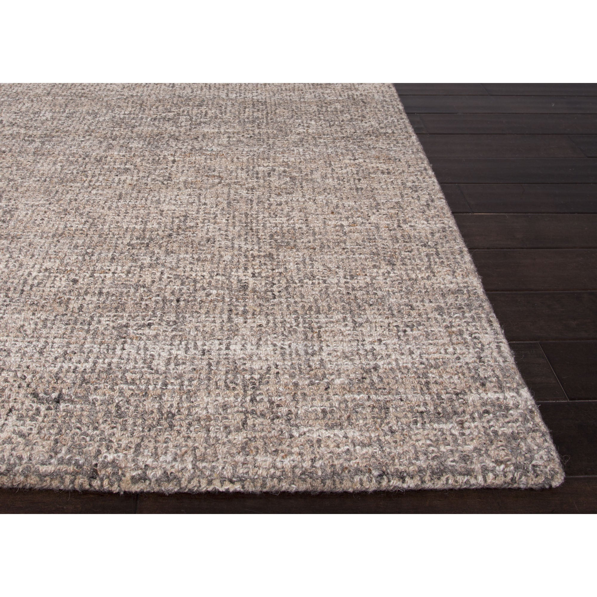 Jaipur Rugs Solid Solid Pattern Taupe Ivory Wool Area Rug