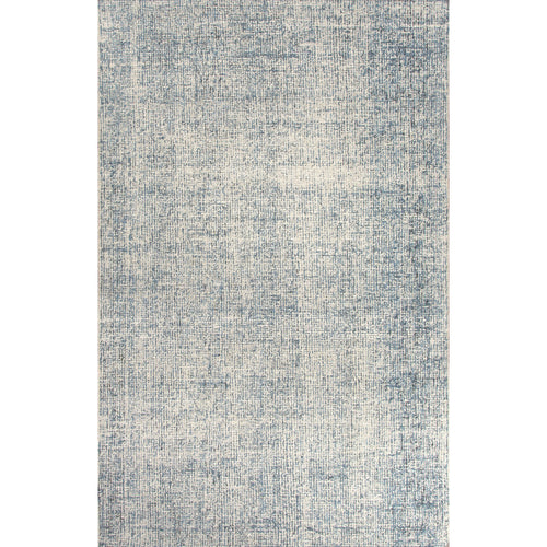 Jaipur Rugs Solid Solid Pattern Ivory/Blue Wool Area Rug