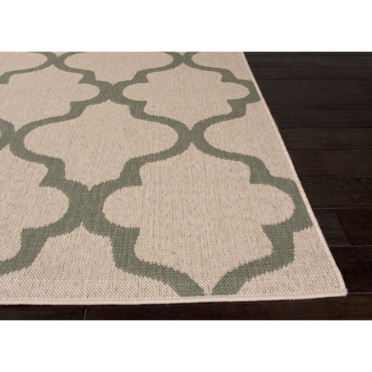 Jaipur Rugs IndoorOutdoor Moroccan Pattern Taupe/Blue