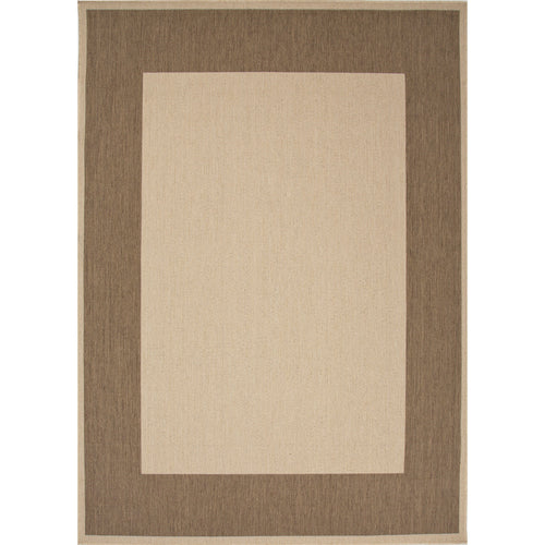Jaipur Rugs Indoor-Outdoor Boarder Pattern Taupe/Brown Polypropylene Area Rug