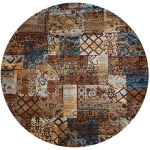 Rizzy Home Bellevue BV3698 Multi-Colored Patchwork Area Rug