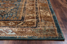 Load image into Gallery viewer, Rizzy Home Bellevue BV3728 Blue Border Area Rug