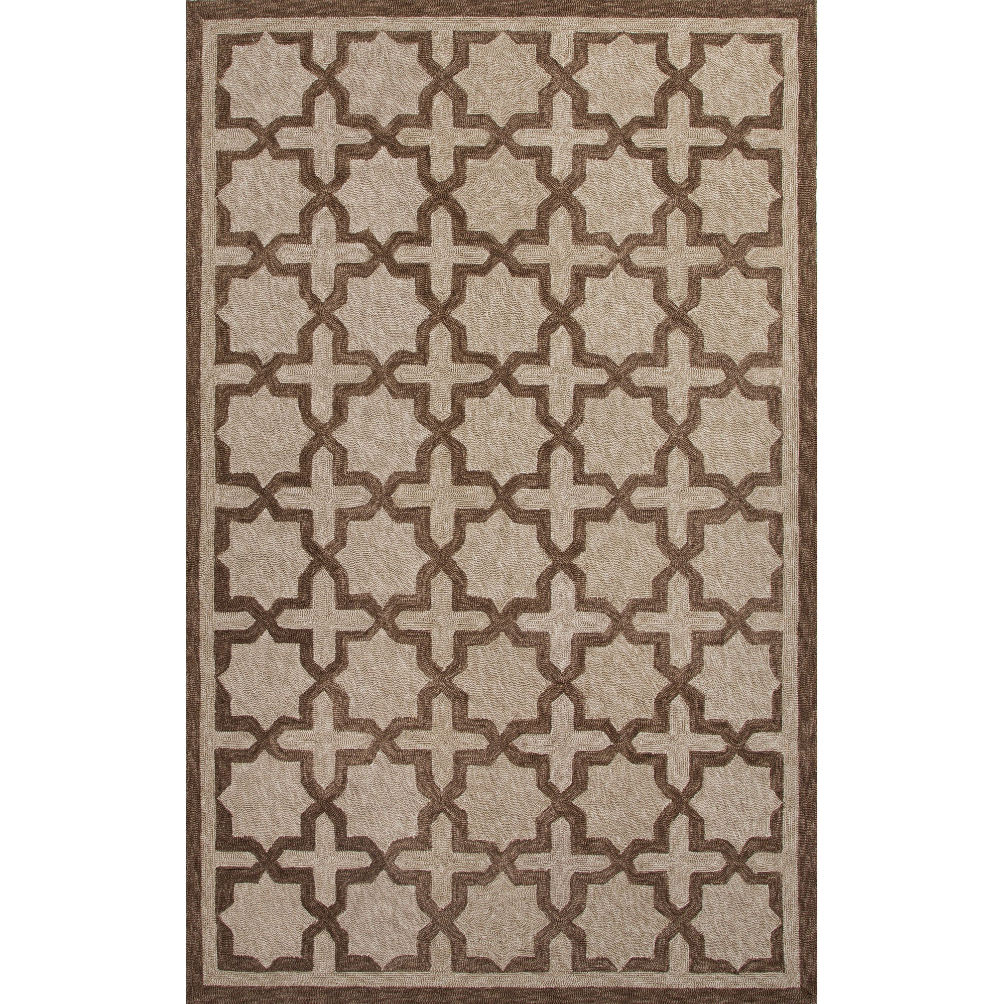 Jaipur Rugs IndoorOutdoor Moroccan Pattern Ivory/Brown