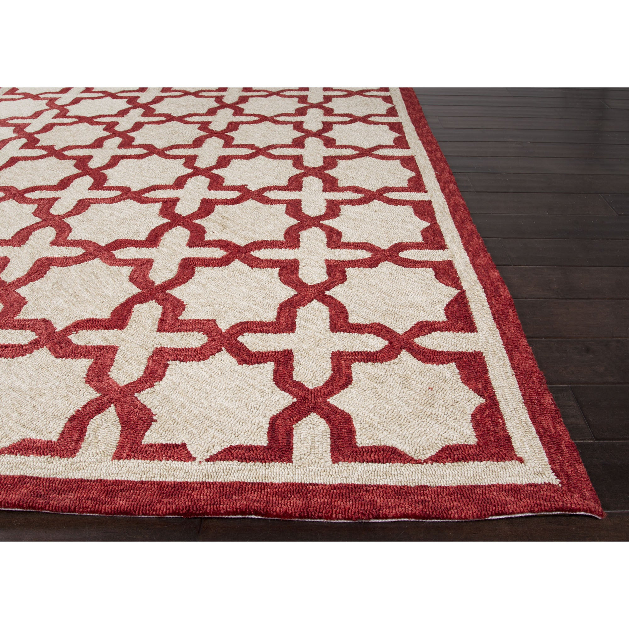 Jaipur Rugs IndoorOutdoor Moroccan Pattern White/Red