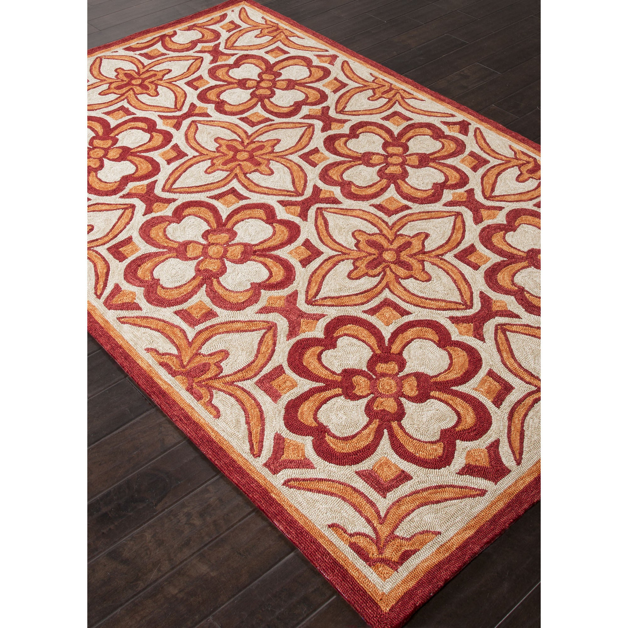 Jaipur Rugs IndoorOutdoor Moroccan Pattern Orange/Red
