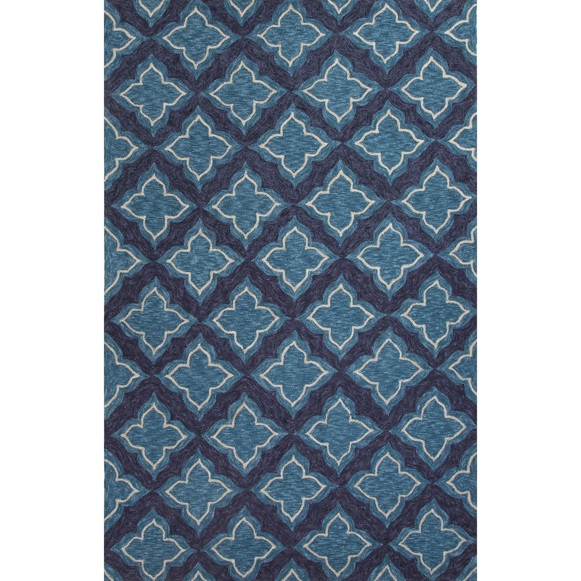Jaipur Rugs IndoorOutdoor Moroccan Pattern Blue Polyester