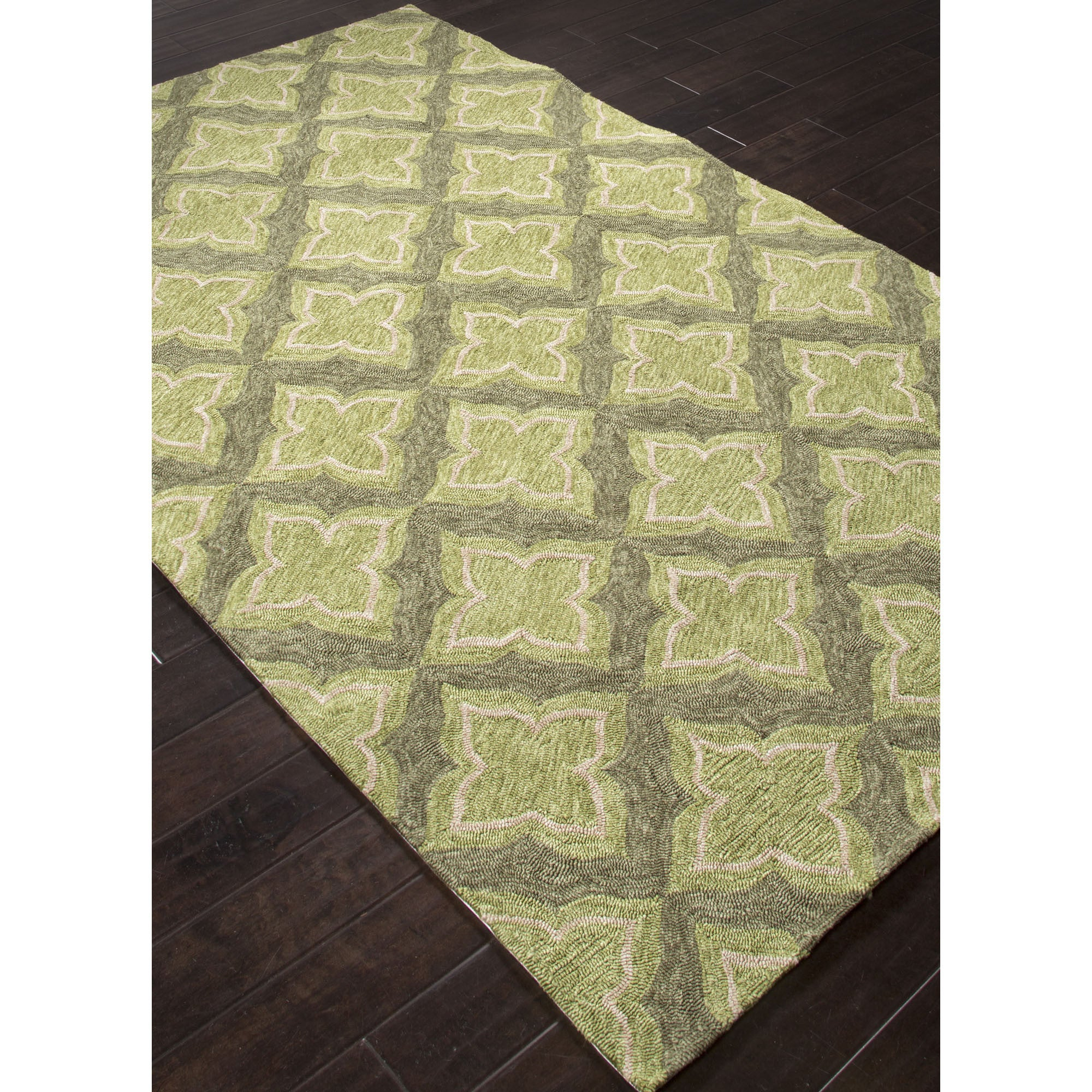 Jaipur Rugs IndoorOutdoor Moroccan Pattern Green/Taupe