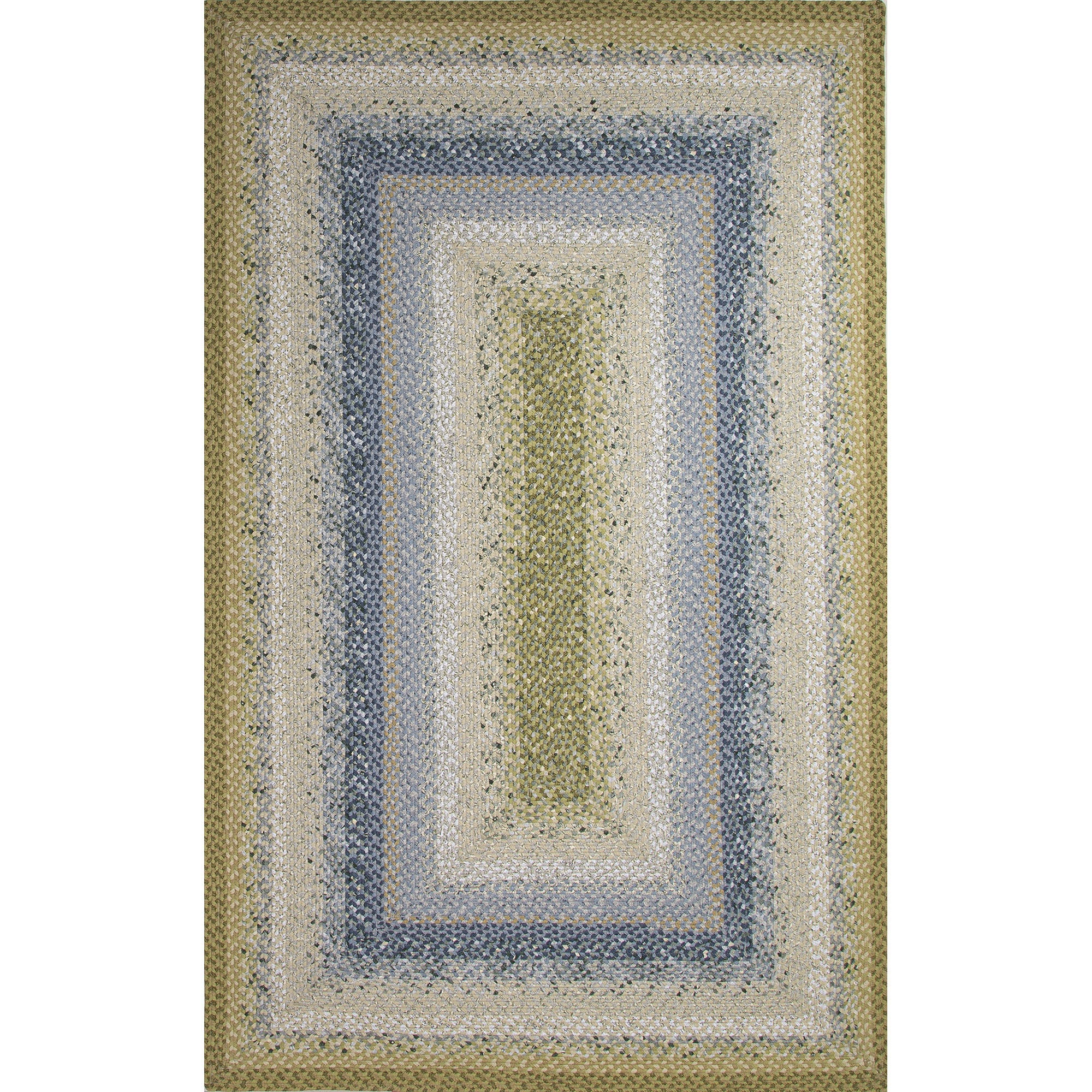 Jaipur Rugs Braided Solid Pattern Blue Green Cotton And