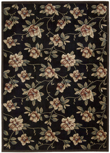 Nourison Cambridge Black Area Rug CG08 BLK