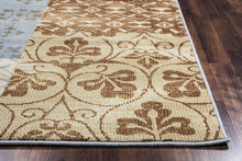 Load image into Gallery viewer, Rizzy Home Carrington CG4852 Ivory/Camel Patchwork Area Rug