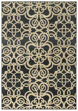 Load image into Gallery viewer, Rizzy Home Carrington CG4853 Black Trellis Area Rug