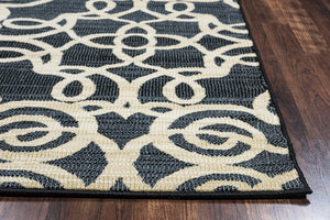 Rizzy Home Carrington CG4853 Black Trellis Area Rug