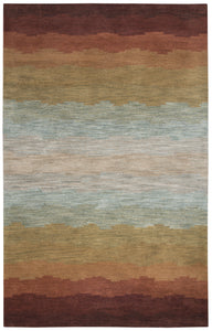 Rizzy Home Colours CL2514 Multi-Colored Striped Area Rug