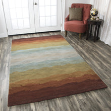 Load image into Gallery viewer, Rizzy Home Colours CL2514 Multi-Colored Striped Area Rug