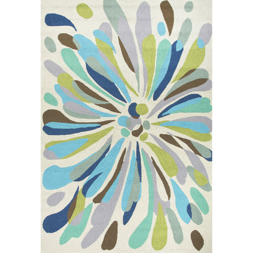 Jaipur Rugs Indoor-Outdoor Abstract Pattern Multi/Blue Polypropylene Area Rug