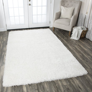 Rizzy Home Commons CO8365 White Solid Area Rug