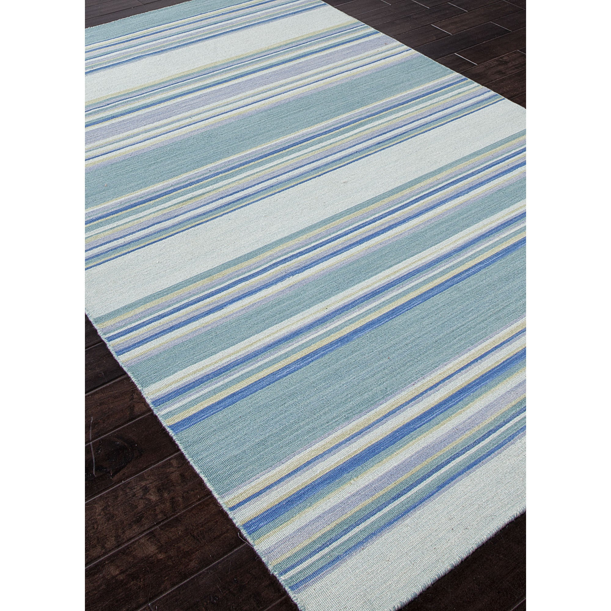 Jaipur Rugs Flatweave Stripe Pattern Blue Wool Area Rug