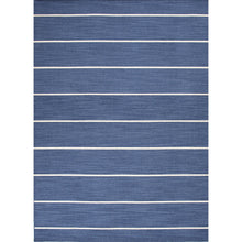 Load image into Gallery viewer, Jaipur Rugs Flat-Weave Stripe Pattern Blue/Ivory Wool Area Rug