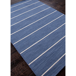 Jaipur Rugs FlatWeave Stripe Pattern Blue/Ivory Wool Area Rug COH09 (Rectangle)