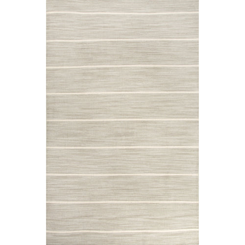 Jaipur Rugs Flat-Weave Stripe Pattern Gray/Ivory Wool Area Rug