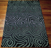Load image into Gallery viewer, Nourison Contour Smoke Teal Area Rug CON24 SMKTL