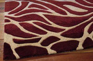 Nourison Contour Flame Area Rug CON25 FLAME (Rectangle)