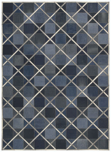 Barclay Butera Cooper Indigo Area Rug By Nourison COP01 INDIG (Rectangle) | BOGO USA