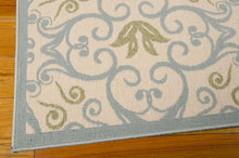 Load image into Gallery viewer, Nourison Caribbean Ivory Blue Area Rug CRB02 IVBLU (Rectangle)
