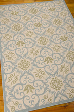 Load image into Gallery viewer, Nourison Caribbean Ivory Blue Area Rug CRB02 IVBLU
