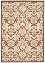 Load image into Gallery viewer, Nourison Caribbean Ivory Rust Area Rug CRB02 IVRUS