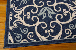 Nourison Caribbean Navy Area Rug CRB02 NAV (Rectangle)