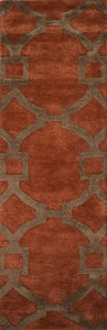 Jaipur Rugs Modern Geometric Pattern Red/Brown Wool and Art Silk Area Rug